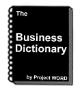 The Business Dictionary by project word
