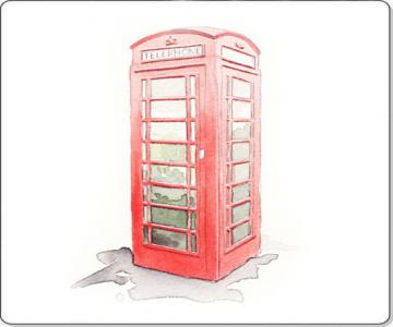 watercolour Phone box