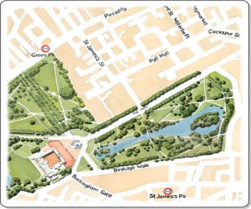St James Park map